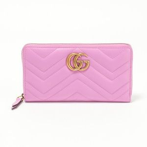 Gucci Purple GG Marmont Wallet Card Case Clutch